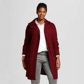 Women's Plus Size Hooded Cable Front Car Coat - Merona