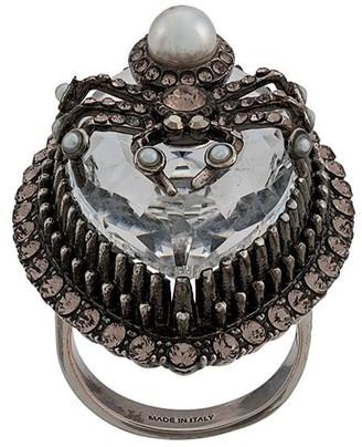 Alexander McQueen Crystal Spider Ring