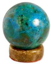 Geometric Sculpture from Peru in Chrysocolla, 'Intuition'