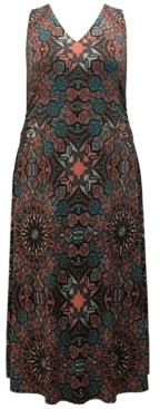 INC International Concepts Inc Plus Size Printed Maxi Dress, Created for Macy's
