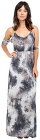 Culture Phit Mila Tie-Dye Cold Shoulder Maxi Dress with Slit