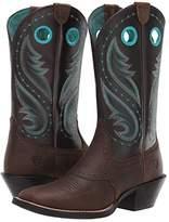 Ariat Round Up Melrose (Distressed Brown/Dark Java) Cowboy Boots
