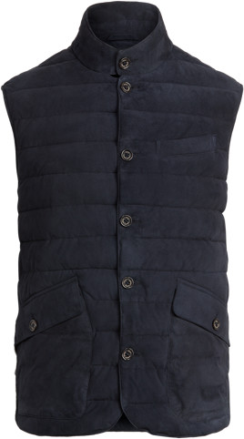 Thumbnail for your product : Ralph Lauren Quilted Suede Gilet