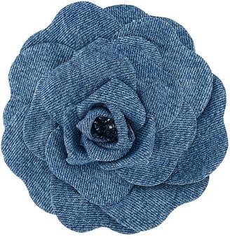Philosophy di Lorenzo Serafini Denim Floral Corsage Brooch