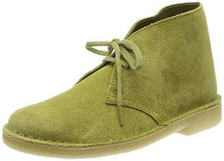 Clarks Desert Boot Suede Boots in Khaki Standard Fit Size 7