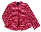 Oscar de la Renta Little Girl's Long Sleeve Knitted Jacket