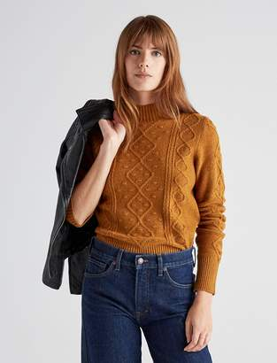 Lucky Brand Bauble Cable Knit Pullover