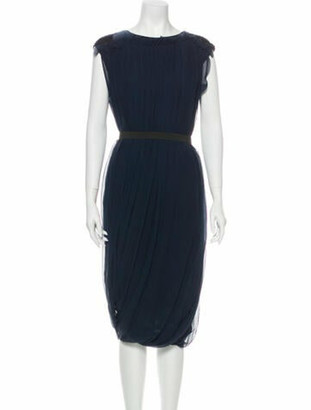 Lanvin 2003 Midi Length Dress Blue