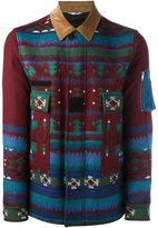Valentino geometric print jacket - men - Cotton/Wool - 46