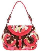 Emilio Pucci Leather-Trimmed Shoulder Bag