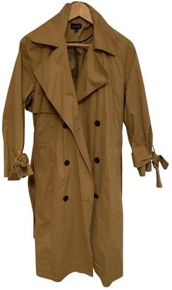 Topshop Tophop Beige Cotton Trench Coat for Women