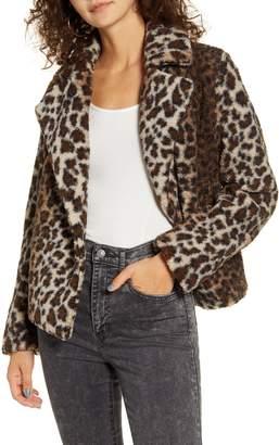 Maralyn & Me Leopard Teddy Jacket