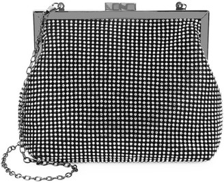 La Regale Crystal-Studded Pouch Clutch