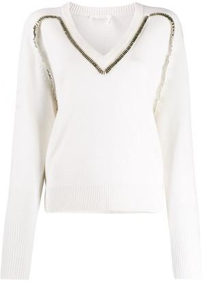 Chloé Embellished Knitted Jumper