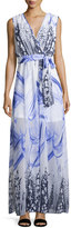 Alberto Makali Printed Self-Tie Maxi Dress, Blue