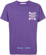 Off-White peace T-shirt - men - Cotton - XS