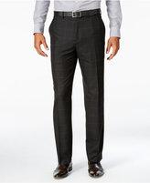Sean John Men's Classic-Fit Black Windowpane Suit Pants