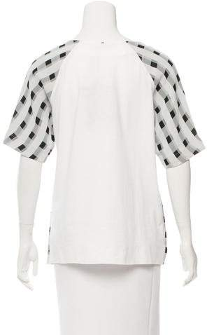 Sportmax Gingham Short Sleeve Top w/ Tags