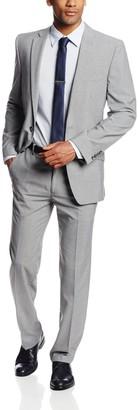 Haggar Men's Heather Slim Fit Two Button Side Vent Suit Coat