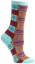 Ozone Women's Sahara Patchwork Crew Socks