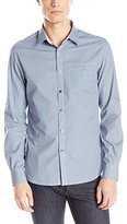 Kenneth Cole Reaction Men's Ls Bsm Pkt Print