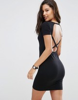 Asos Body-Conscious Dress with Cross Back