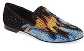Giuseppe Zanotti Men's Crystal Embellished Smoking Slipper
