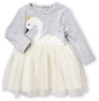 Babaluno (Newborn Girls) Swan Long Sleeve Tutu Dress