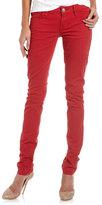 MEK Skinny Jeans, Brick Red