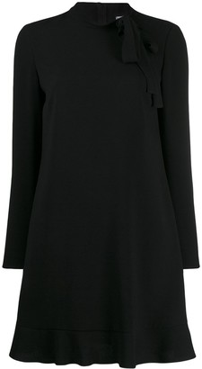RED Valentino Bow Detail Flared Mini Dress