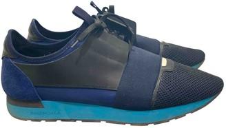Balenciaga Race Blue Suede Trainers