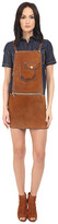 DSQUARED2 Calf Leather Maylea Leather Saloupette Dress