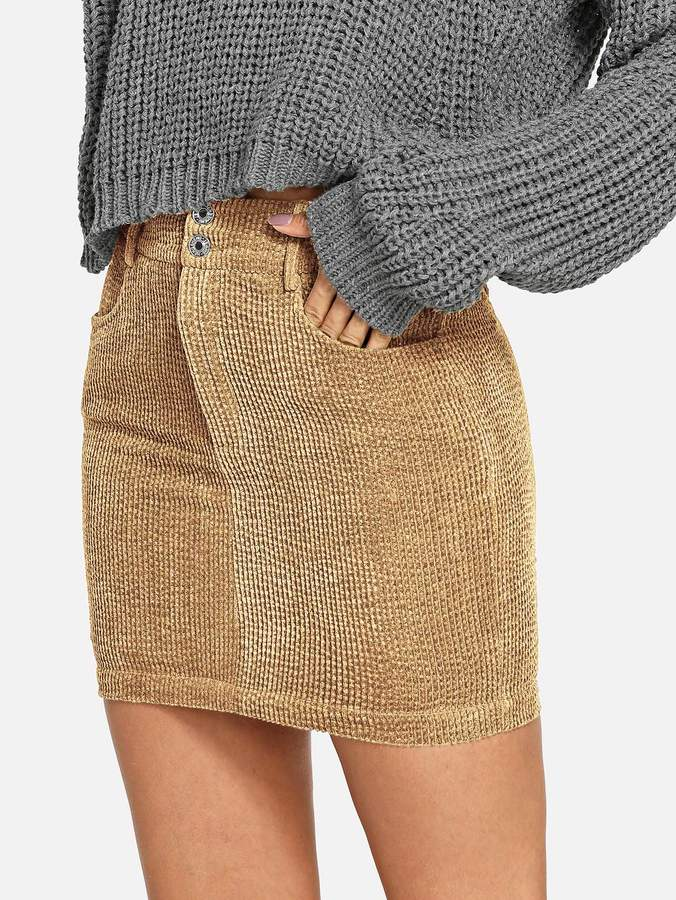 a4e2da3a9 Double Button Skirt - ShopStyle