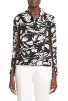 Yigal Azrouel Printed Cape Jacket