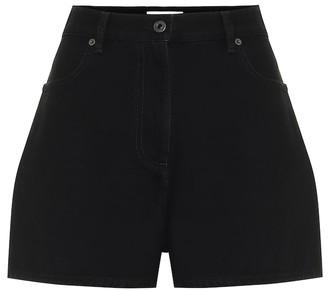 Valentino High-rise denim shorts