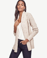 Ann Taylor Petite Cable Open Cardigan