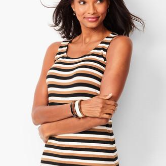 Talbots Pima Cotton-Blend Tank - Bold Stripe
