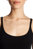 Dogeared Sterling Silver Top Layer Diamond Chain Choker