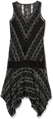 BCBGMAXAZRIA Azria Women's Malory Asymmetrical Lace Dress