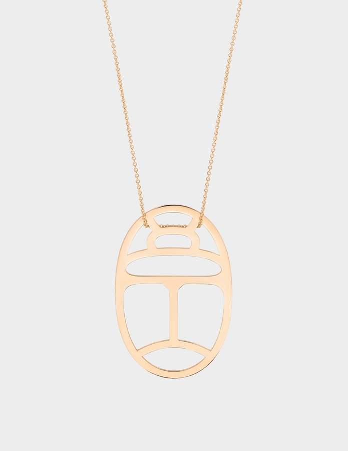 ginette_ny Wish 18-karat rose gold necklace