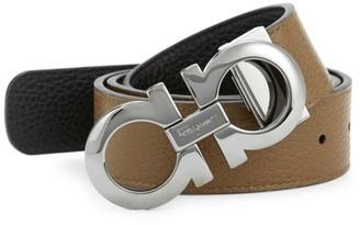 Salvatore Ferragamo Adjustable & Reversible Gancini Leather Belt