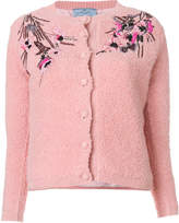 Prada floral embroidered cardigan