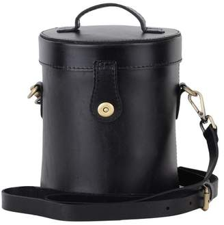 Most Wanted Design by Carlos Souza Charlie North South Cylindrical Leather Bag