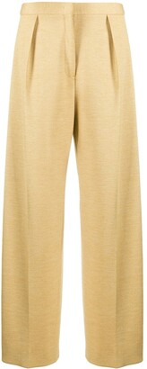 Jil Sander High-Waisted Pleated Trousers