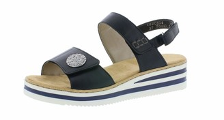 Rieker V02C8 Women Wedge Sandals Summer Shoes Comfortable Flat