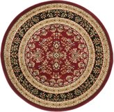 "Safavieh Lyndhurst Collection LNH331B Red and Black Round Area Rug, 5 feet 3 inches in Diameter (5'3"" Diameter)"