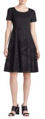 Lafayette 148 New York Doreen Stretch-Cotton Fit-and-Flare Dress