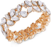 GUESS Gold-Tone Crystal Stretch Bracelet