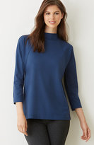 J. Jill Ponte Knit Seamed Top