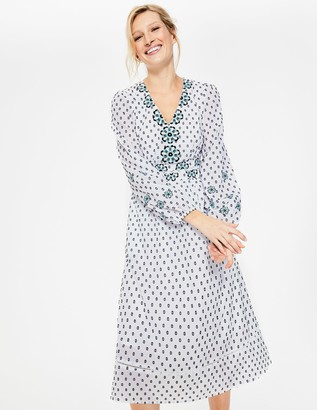 Boden Flossie Embroidered Midi Dress